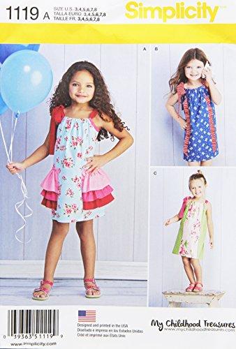 - Simplicity Patterns 1119 Children's Pillowcase Dresses, A (3-4-5-6-7-8)