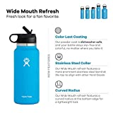 Hydro Flask Wide Mouth 2.0 Water Bottle, Straw Lid