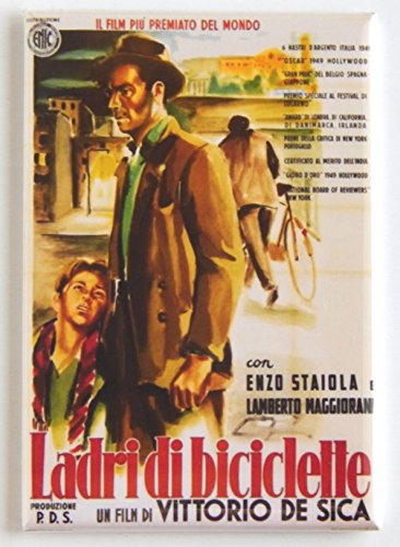 The Bicycle Thief (Italy) Movie Poster Fridge Magnet (2.5 x 3.5 inches)