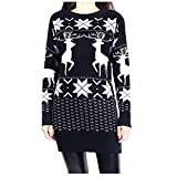 Product review for Taiduosheng women's Long Length Xmas gift jumper girls'Patterns Of Reindeer Snowman Christmas Cardigan
