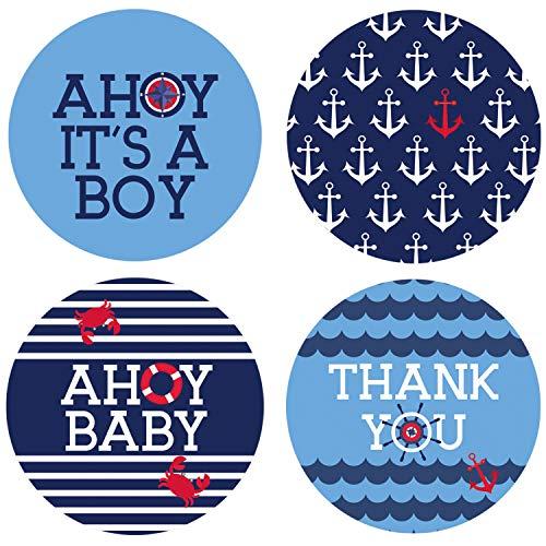 Ahoy It's a Boy Baby Shower Favor Labels | 1.75