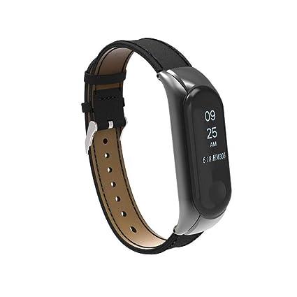 Correa de reloj para Xiaomi Mi Band 3,YOUBan correa reemplazo + funda metal relojes