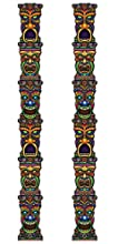 Beistle S50467AZ2 Jointed Tiki Totem Pole 2 Piece, Multicolored