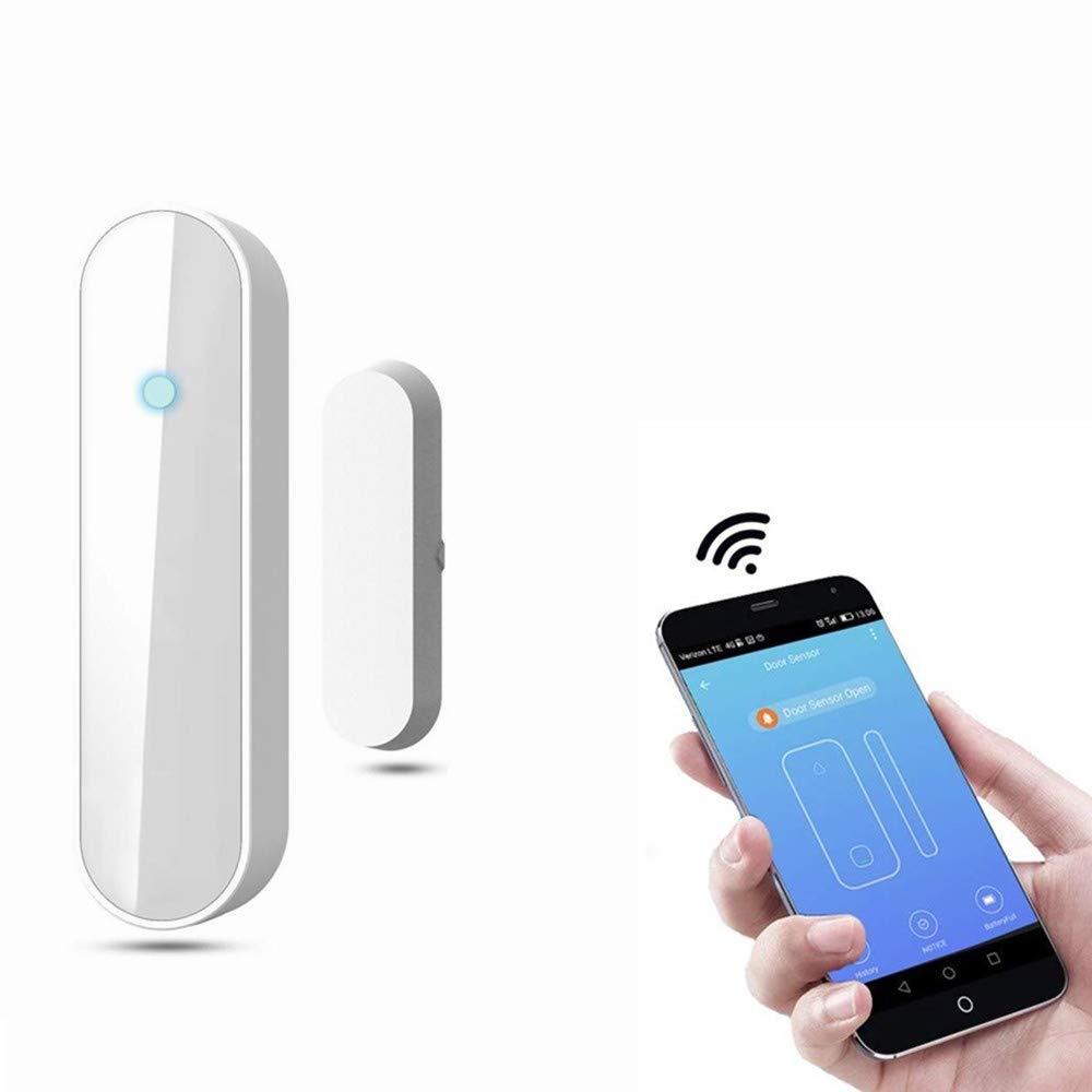 Calistouk Sensor de imán de puerta ventana detector magnético inalámbrico WiFi inteligente para seguridad sistema de alarma aplicación de teléfono móvil (1)