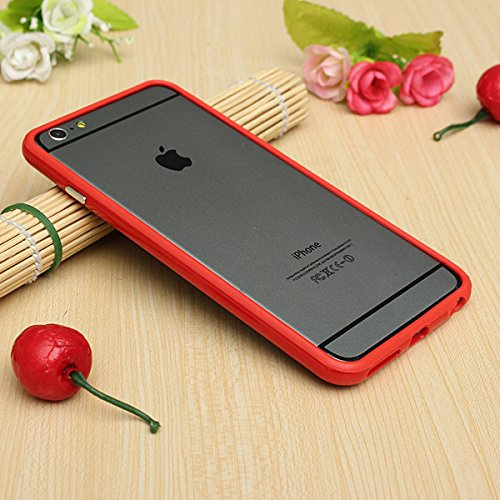Stunning Style Iphone 6 Plus Silicon Bumper Red by G4GADGET®