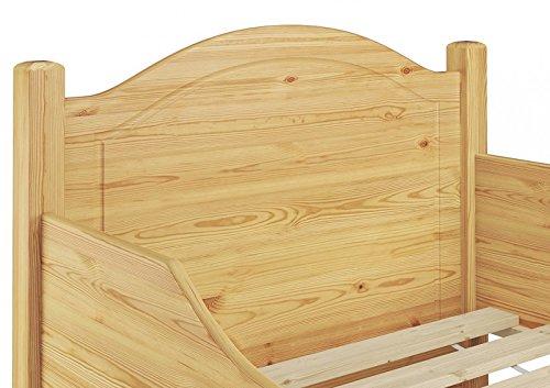 60.40-10 oR Seniorenbett, Kiefer massiv, 100x200 cm