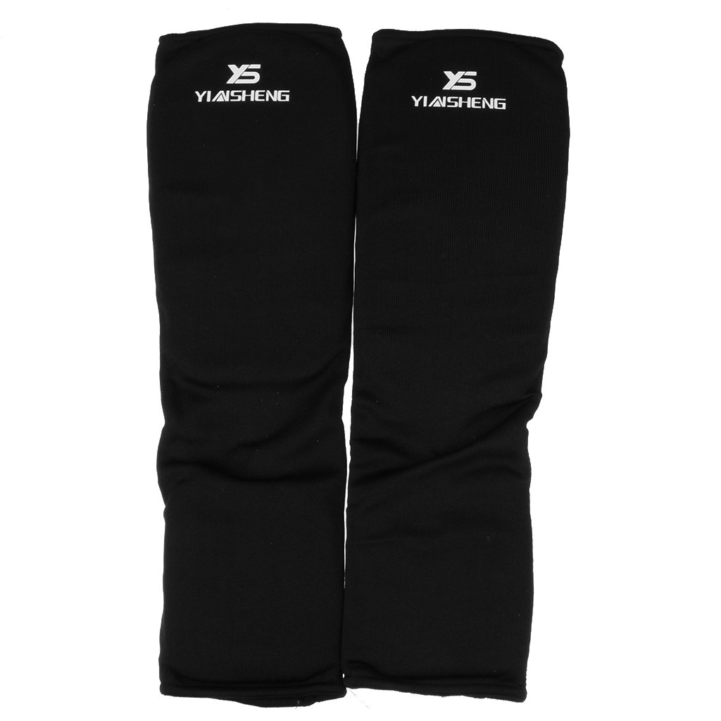 Toygogo Cloth Shin Instep Guards Taekwondo Karate Foot Sparring Gear Pads 2 Color