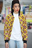 Bomber jacket / African print bomber jacket/ ankara print bomber jacket - light brown