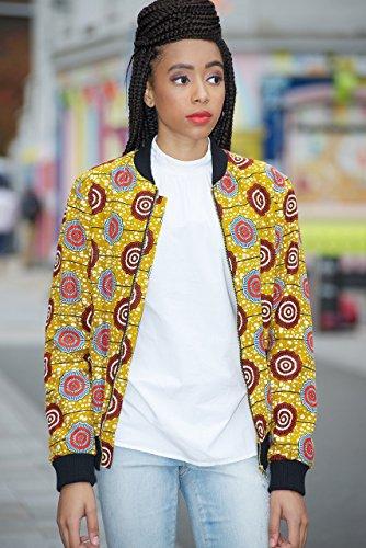 Bomber jacket / African print bomber jacket/ ankara print bomber jacket - light brown by Gitas Portal