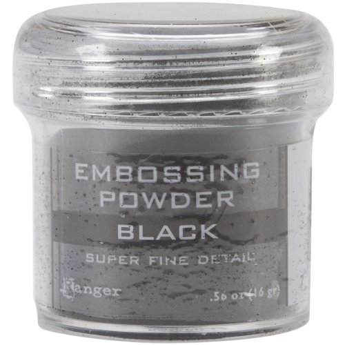 Ranger Embossing Powder, .56 Ounce Jar, Super Fine Black Product ID: 789541037392