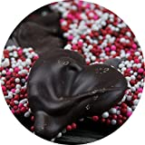 Dark Chocolate Heart-Shaped Nonpareils - Valentine's Day Gourmet Chocolate Gift by Sugar Plum Chocolates
