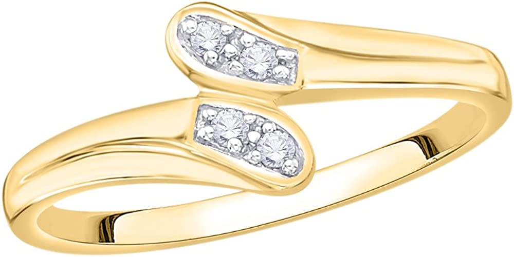 1//20 cttw, Size-4.25 G-H,I2-I3 Diamond Wedding Band in 10K Yellow Gold