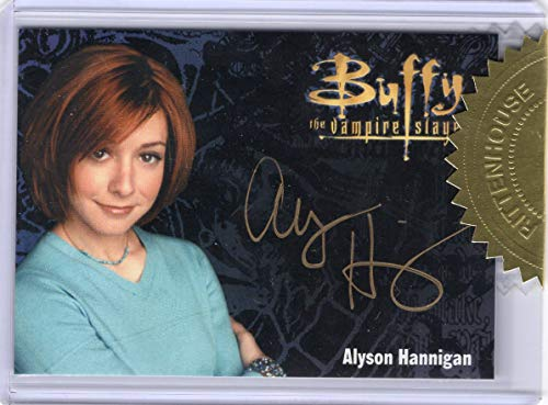 (Buffy The Vampire Slayer Ultimate Collectors Series 3 - Alyson Hannigan Gold Signature Autograph Trading Card)