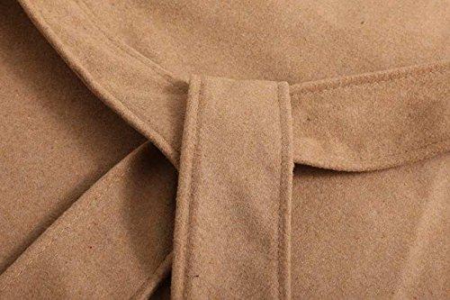 ... OUMIZHI Damen Mantel Trenchcoat mit Gürtel Onesize Lang und Kurz Khaki  yDr3wCuQT ... 1bf32038a2