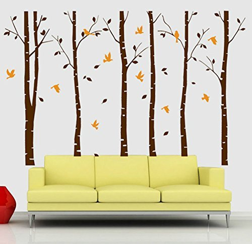 orange and brown wall decals - 1