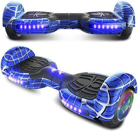 TPS 6.5 Spider Web Edition Hoverboard Self Balancing Scooter with Colorful LED Wheel Lights – UL2272 Certified