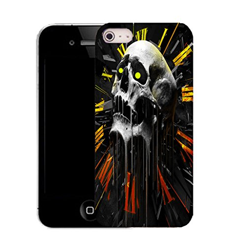 Mobile Case Mate IPhone 5S clip on Silicone Coque couverture case cover Pare-chocs + STYLET - apex skull pattern (SILICON)
