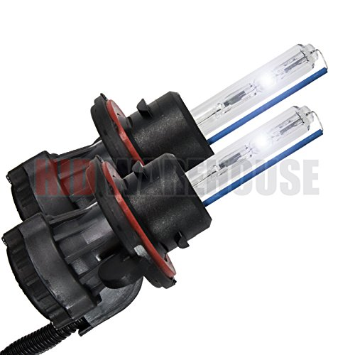 HID-Warehouse HID Xenon Replacement Bulbs - Bi-Xenon H13 6000K - Light Blue (1 Pair) - 2 Year Warranty ()