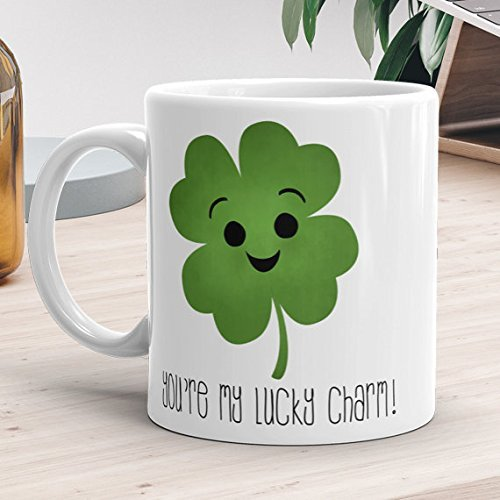 You're My Lucky Charm - Four Leaf Clover Green Happy St. Patrick's Day Gift, Coffee Mug, Ceramic Mug, Funny Coffee Mug, Gift For Him, Gift For Her, Gift Idea For Friends, 11oz 15oz