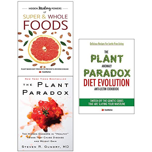 Book cover from Plant paradox [hardcover] and anomaly diet and hidden healing powers of super 3 books collection set by Dr. Steven R Gundry M.D.