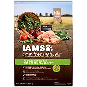 IAMS GRAIN-FREE NATURALS Adult Chicken and Pea Recipe Dry Dog Food 19.0 Pounds