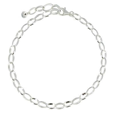 amazon com les poulettes jewels sterling silver charms bracelet
