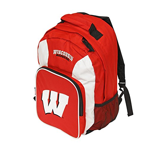 NCAA Wisconsin Badgers Southpaw Backpack, Red/White (Badgers Bag Gym Wisconsin)