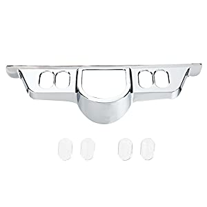 Rudyness Chrome Switch Dash Panel Accent Cover for Harley Touring 96-13 Electra Glide/Street Glide FLHX 06-13