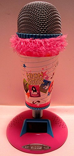 Disney High School Musical Microphone Alarm Clock, Pink with Pink Fuzzy Trim & Blue Highlights