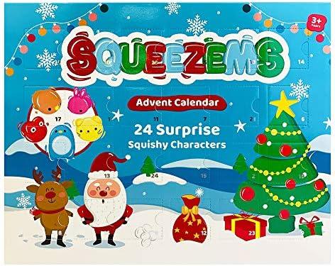 Cosy Christmas Calendario de Adviento Squeezems, 24 Personajes de Surpise Squishy