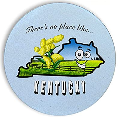 Ceramic Stone Coaster Coasters Set of Four - There's No Place Like Kentucky