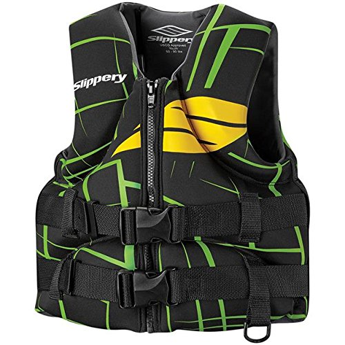Slippery Surge Neo Youth Vest, Gender: Boys, Primary Color: Green, Size: OSFM, Distinct Name: Black/Yellow/Green, Size Modifier: 50-90 Lbs., Size Segment: Youth XF-2-3242-0044