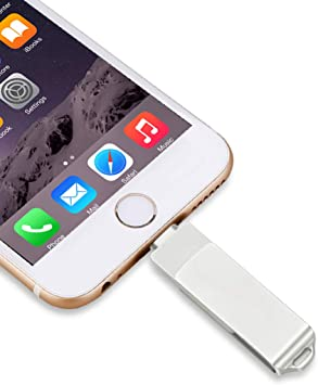 3-in-1 256GB USB Flash Drives For iPhone Lightning OTG Jump Drive-Gold Storage