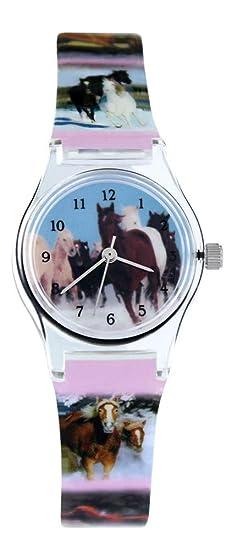 66a1d3ab0b Pacific Time Orologio al quarzo per bambini con cavalli, 20569