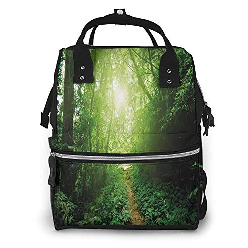 Baby Diaper Bag Backpack, Way in Jungle of Malaysia for Baby Waterproof Multifunctional