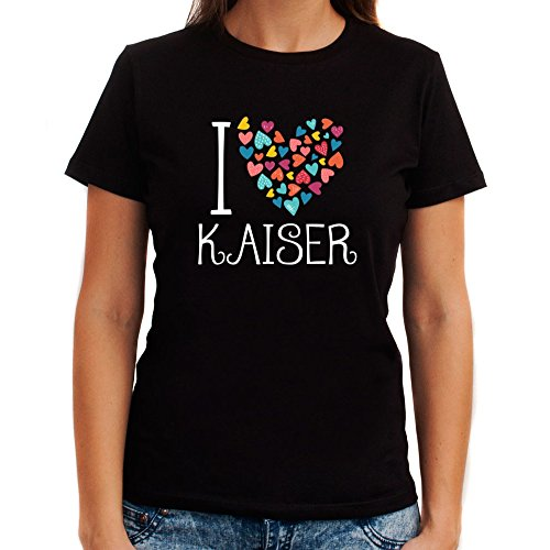 Idakoos I Love Kaiser Colorful Hearts - Last Names - Women T-Shirt ()