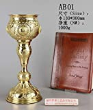 Brass Chalice Cup and Plate Altar Religion AB01 Our Company Have 101 Kinds of Chalice for Your Choice.