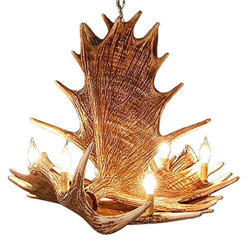 Rustic Moose 4 Antler Chandelier with 6 Lights by Muskoka Lifestyle Products