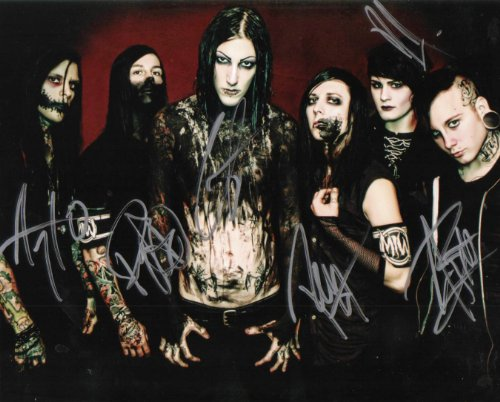 Motionless in White band reprint signed photo #2 RP by Loa_Autographs