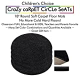 "Set 4 - Tuxedo Kids CraZy CarPet CirCle SeaTs 18"" Round Soft Warm Floor Mat - Cushions 