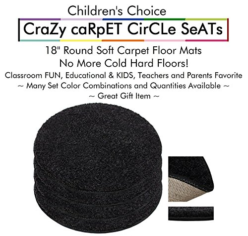 Set 4 - Tuxedo Kids Crazy Carpet Circle Seats 18