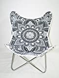 Classic Cover Canvas Cotton Mandala Butterfly Chair Cover With Butterfly Chair Frame