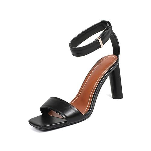KJJDE Sandalias Mujer Zapatilla Chanclas WSXY-L0317 Velcro Creativo Confort Tacón Zapatos Para Caminar, Black, 36: Amazon.es: Zapatos y complementos