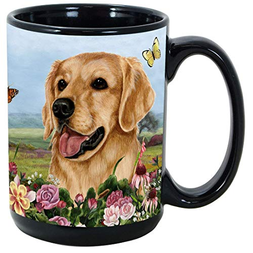 Imprints Plus Dog Breeds (E-P) Golden Retriever 15-oz Coffee Mug Bundle with Non-Negotiable K-Nine Cash (Golden Retriever 086)