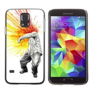 Designer Depo Hard Protection Case for Samsung Galaxy S5 / Cool Head Explosion Painting