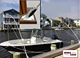 Mooring Whips deck mounted for boats from 15' to 40' solid 1'' fiberglass poles14' 20,000lb class not a casting marine grade aluminum powder coated LIMITED SALE PRICE