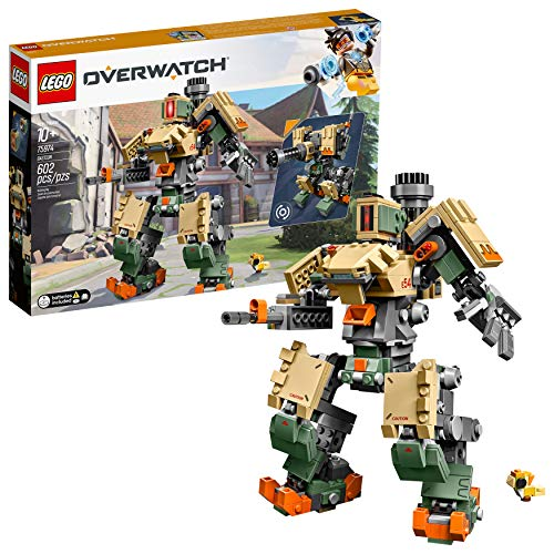 LEGO 6250958 Overwatch 75974 Bastion Building Kit, Overwatch Game Robot Action Figure, New 2019 (602 Pieces) (Lego Building Gun)