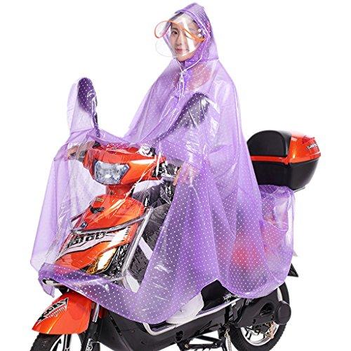 Voiture imperméable voiture électrique de la femme de la batterie de voiture prolongé poncho motorisé imperméable capuchon transparent ( conception : B4 )