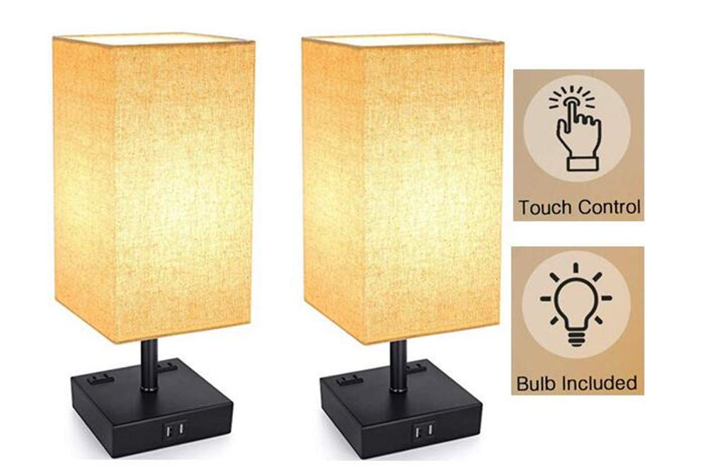 Amazon.com: 2 Pack 3-Way Touch Control Dimmable Table Lamp ...