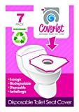 Disposable Toilet Seat Cover Travel Pack of 6 PACKS (42-COUNT) / Cobertor De Sanitario Desechable 42 Count: more info